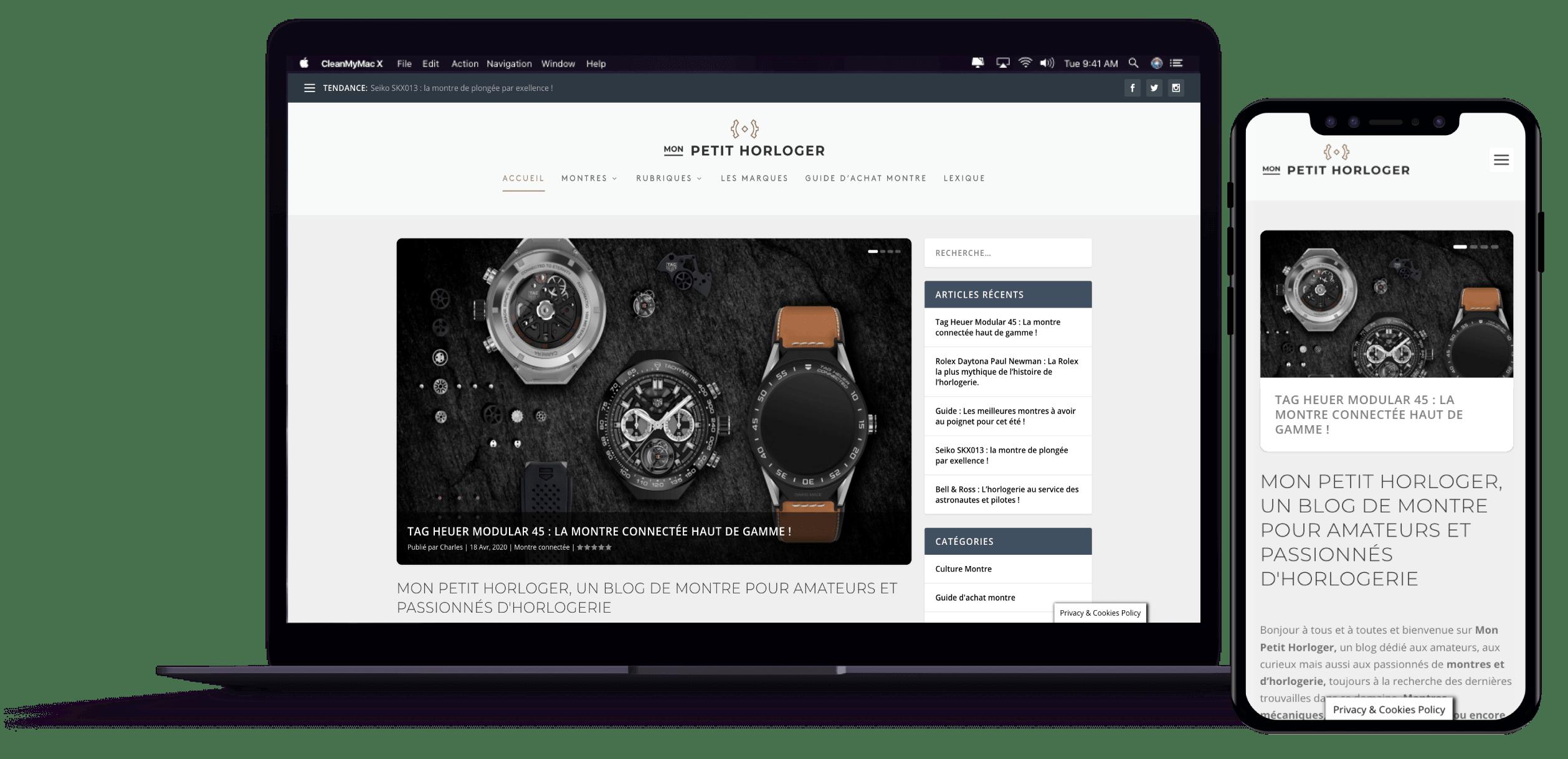 développement de site vitrine